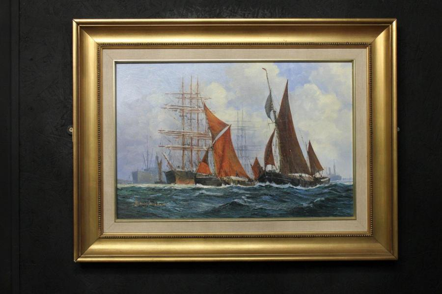 Barry Mason Original Art – Thames Sailing Barges