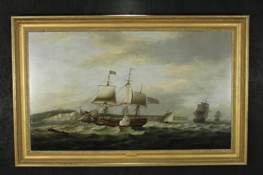 Original Thomas Luny Oil Painting
