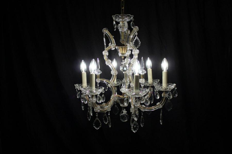 Isabelle – French Period Vintage Mid 20thC Chandelier