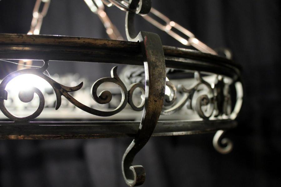 Arthur & Haylan – A pair of Open Fretwork Ring Chandeliers