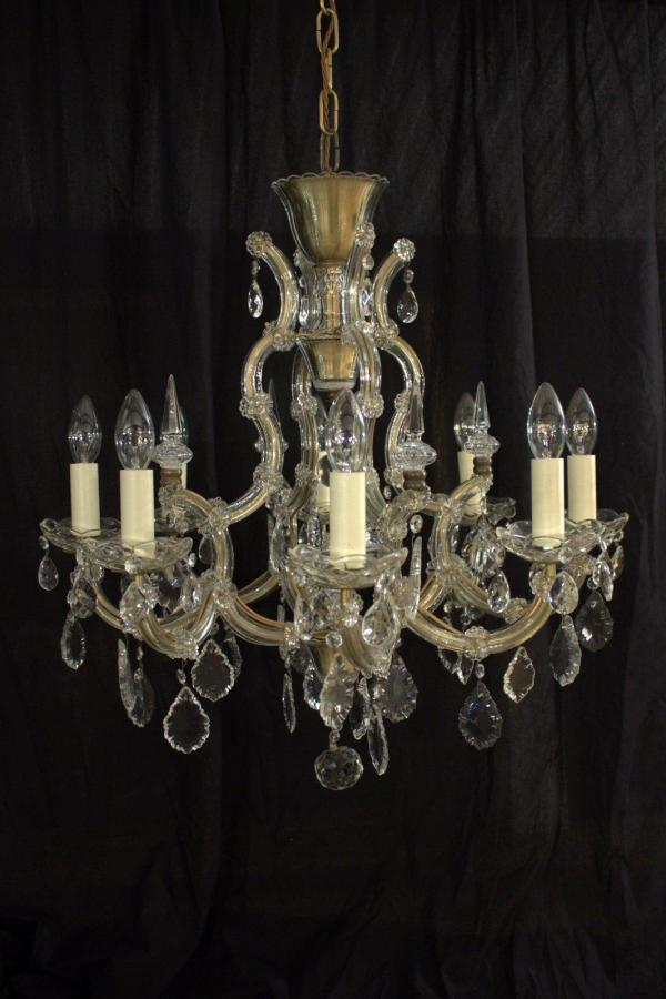 'Nicole' 8 Lamp Marie Therese Glass Clad French Period Chandelier