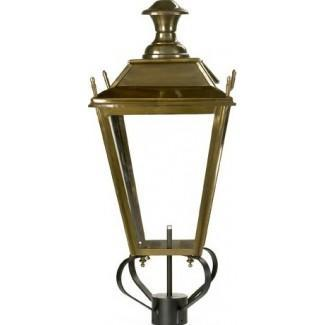 Antique copper finish lantern