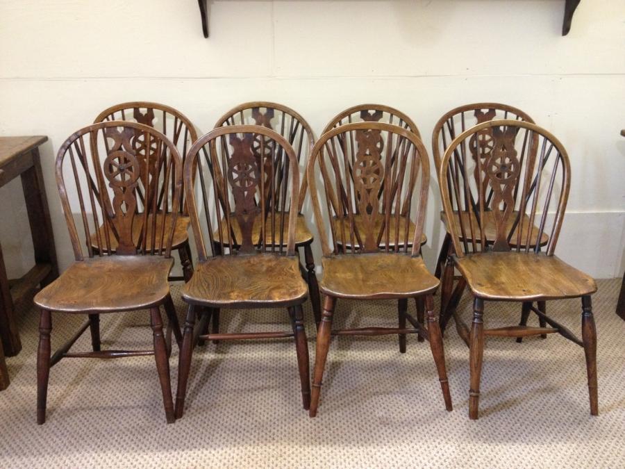 Antique Windsor wheelback chairs