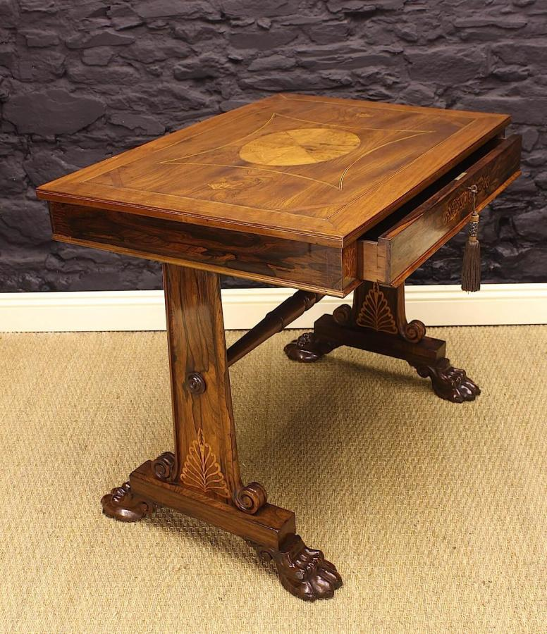 George Bullock Style Regency Rosewood Library Table Circa 1815