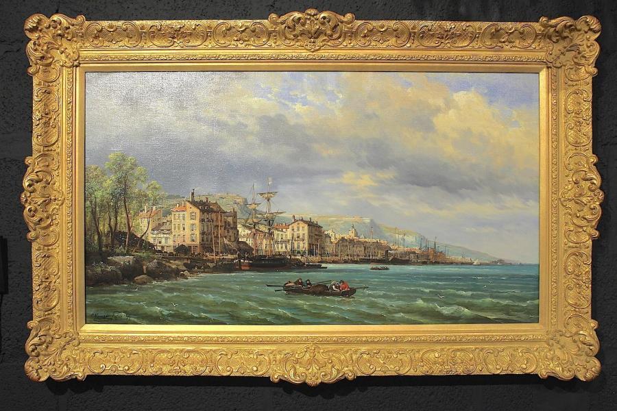 Port of Genoa – CHARLES EUPHRASIE KUWASSEG (1833–1904)