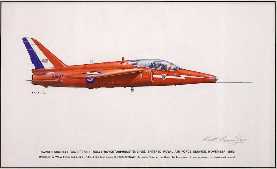Keith Broomfield – Red Arrow – Hawker Siddeley Gnat Mk.1