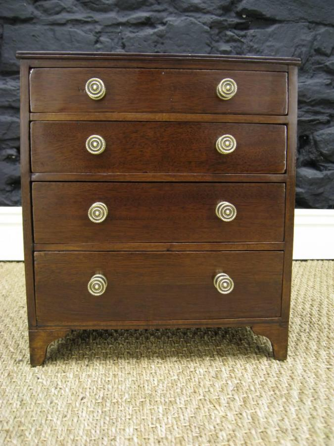 Regency Minature Graduated Chest of Drawers