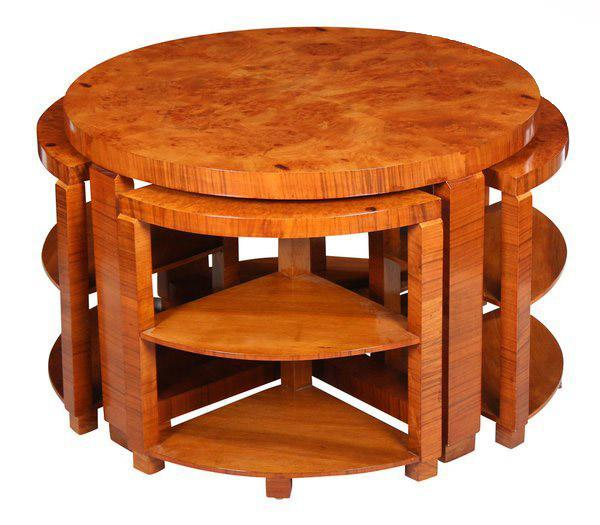 Art Deco Circular Nest of Tables