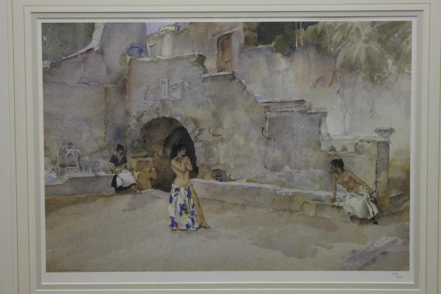 Sir William Russel Flint RA – Models in an Italian Courtyard