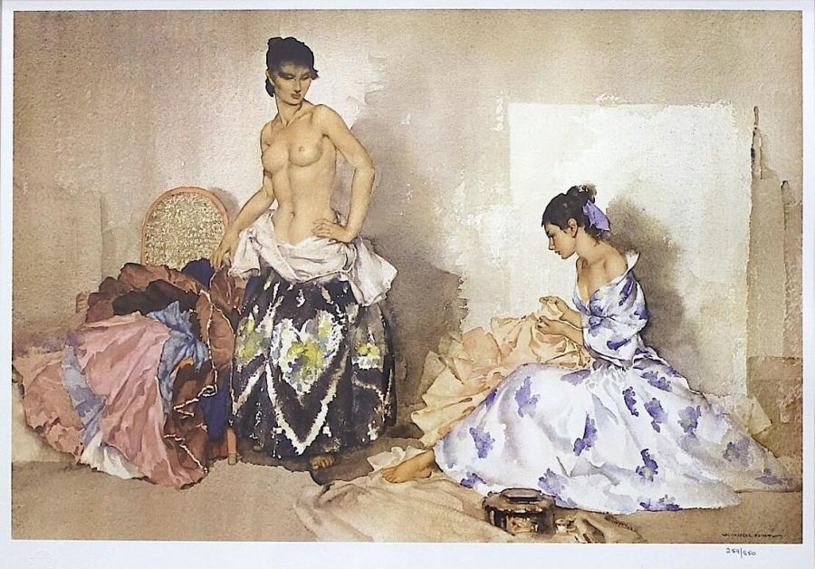 Sir William Russell Flint – Studio Accessories (Print)