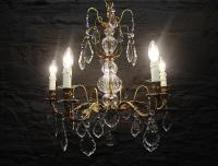 French Bronze Five Lamp Chandelier (Gil:0403)-french-bronze-five-lamp-chandelier-11-thumb