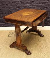 George Bullock Style Regency Rosewood Library Table Circa 1815-george-bullock-rosewood-library-table-1-thumb