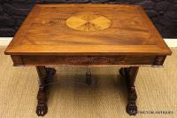 George Bullock Style Regency Rosewood Library Table Circa 1815-george-bullock-rosewood-library-table-5-thumb