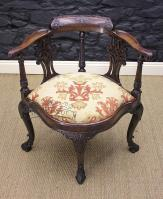 Georgian Mahogany Corner Chair-georgian-mahogany-corner-chair-1-thumb