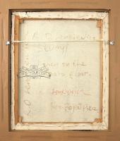 "R.O. Lenkiewicz – ""Study / Karen on the studio floor"" – original oil on canvas-lenki-reverse-1357x16001-thumb"