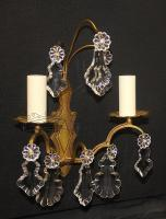 Period Bronze/Brass Twin Armed Sconce Set (pair) Circa 1930-sconce-set-221-thumb