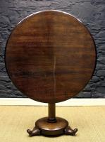 William IV Solid Oak Round Table-william-iv-solid-oak-table-1-thumb