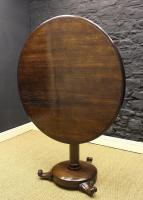 William IV Solid Oak Round Table-william-iv-solid-oak-table-2-thumb