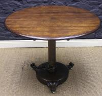 William IV Solid Oak Round Table-william-iv-solid-oak-table-6-thumb