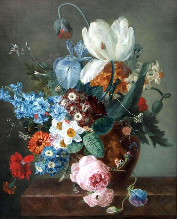 """""""Floral Bouquet"""" by Vicomtesse Iphigenie de Caux (1778 – 1862)"""