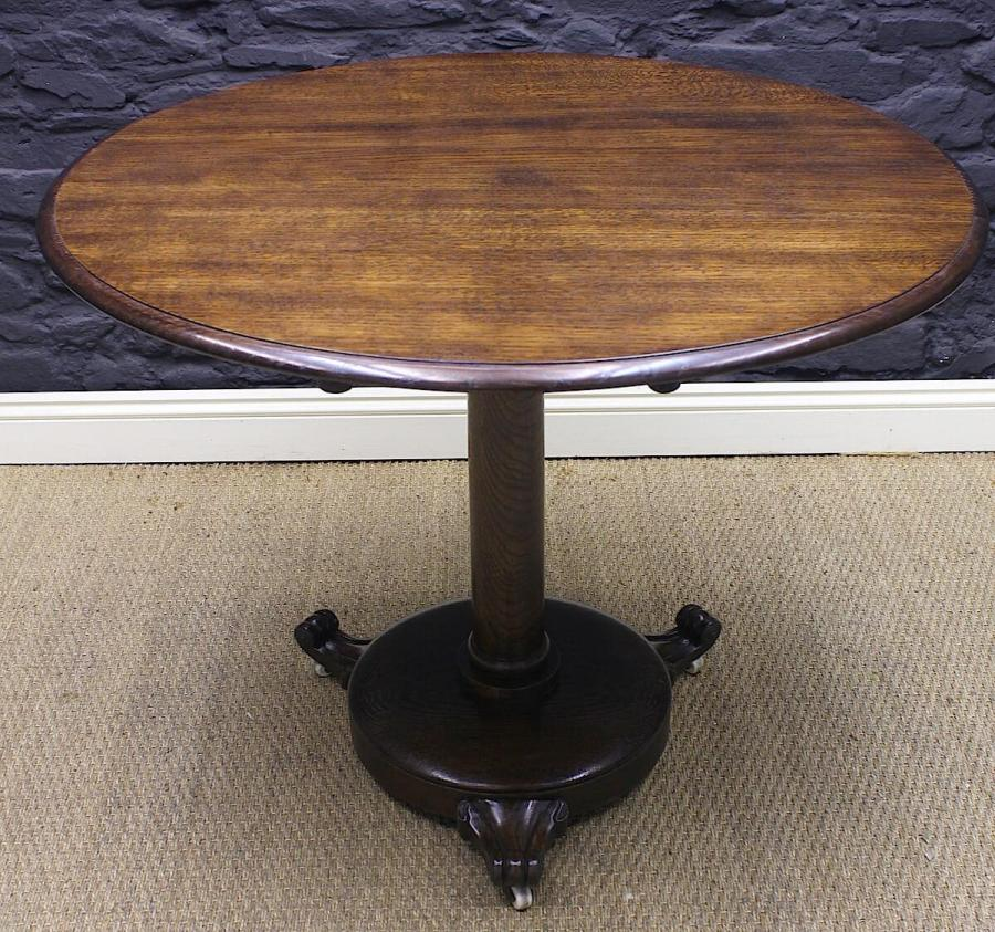 William IV Solid Oak Round Table
